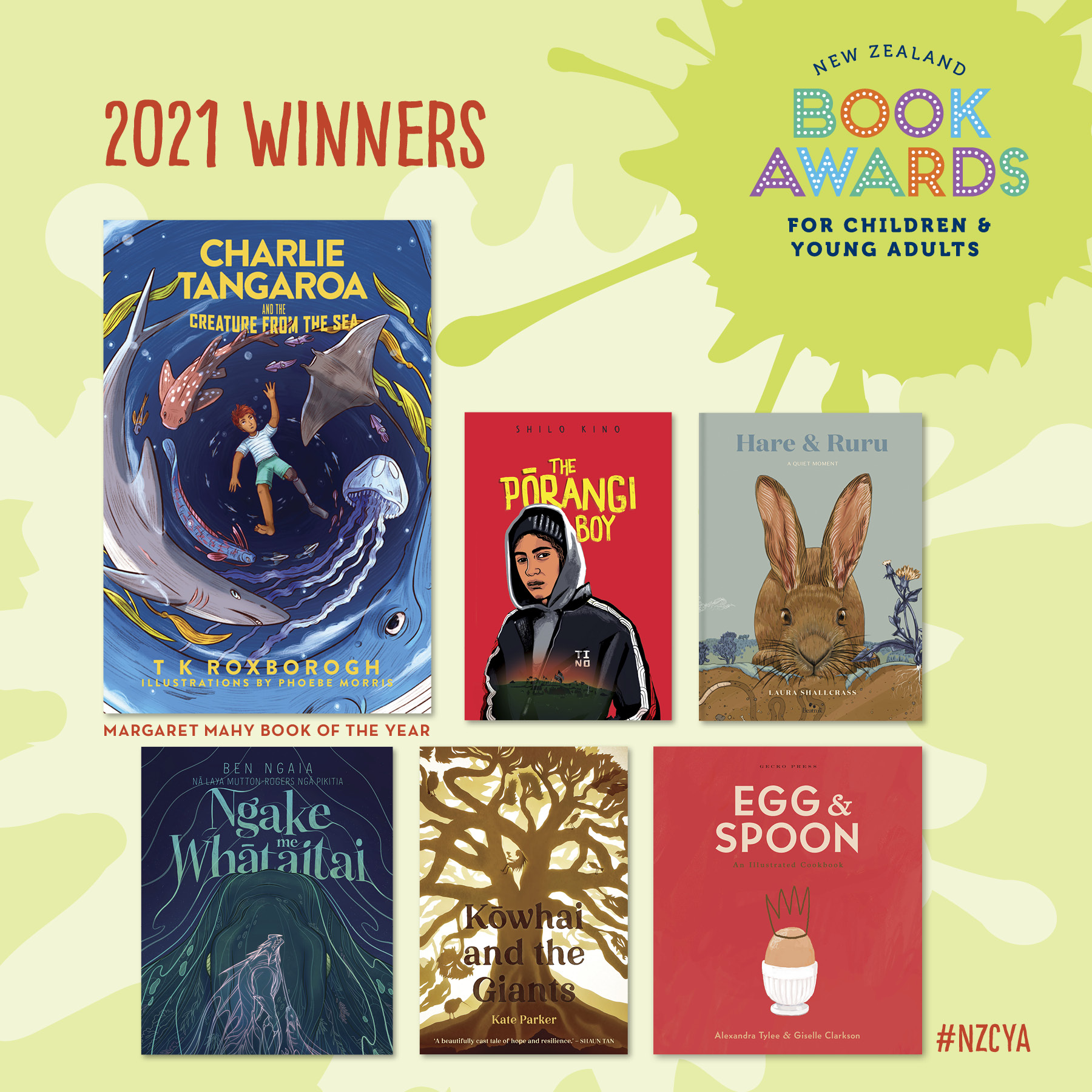 NZ Book Awards For Children & Young Adults